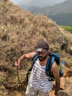 The 5 mile trek