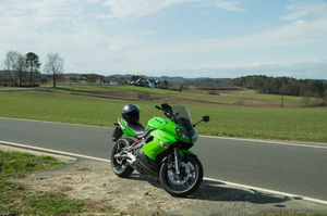 Motorcycle trip through Beautiful Franconian Switzerland in Kawasaki ER 6F