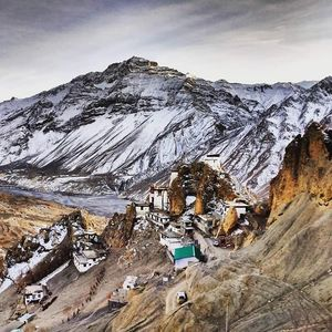Dhankar Gompa is a village and also a Gompa, a Buddhist temple in the district of Lahaul and Spiti