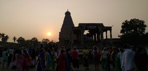 A big shiva ling temple which has 212 ft. & Also temple built in the 1000 year.