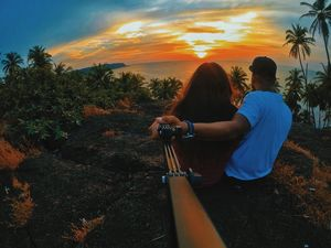 Sunset lover's. #selfiewithaview #tripotocommunity