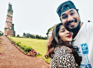 """""""god's plan"""" a day out at St. Augustine church Goa. #SelfieWithAView #TripotoCommunity"""