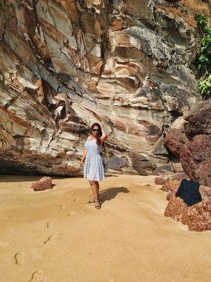 Hidden gem of Goa the grandmother's hole beach Vasco. #bestbeach2019