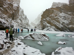 Most challenging trek in India: The Ice Walk trek also called as the THE CHADAR TREK