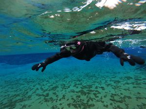 Snorkeling between two continents - Silfra!
