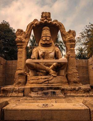 Monolithic Yoga Narasimha Avatar Of Vishnu