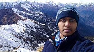 Moments of Nirvana at Kedarkantha Peak Ps: Selfie at 12,500 ft  #SelfiWithAView #TripotoCommunity