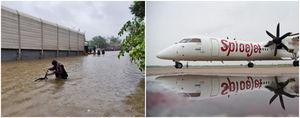 भारी बरसात की चपेट में मुंबई एयरपोर्ट, 52 उड़ानें रद्द, 54 उड़ानों का रूट बदला