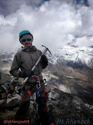 Summit of Mt.Rhenock peak in West Sikkim Himalayas