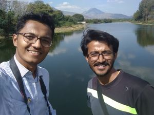 Water and the mountains #SelfieWithAView #TripotoCommunity