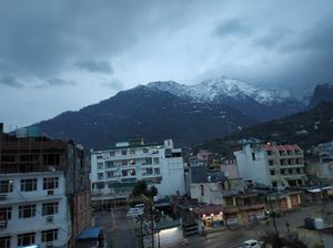 Katra vaishno devi mountain in full of snow.