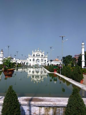 Chota Imambara at Hussainabad Lucknow, has richly decorated chandeliers!