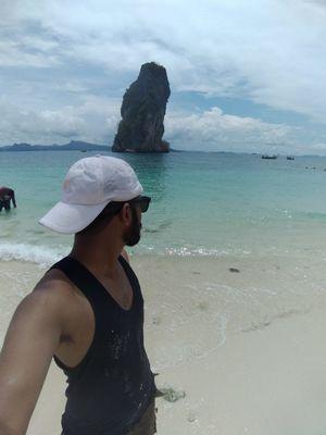 Koh poda island, Krabi, Thailand #SelfieWithAView #TripotoCommunity