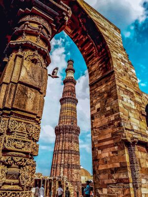 Qutub Minar- Not to miss when in Delhi. The architectural marvel, standing tall in all its glory.