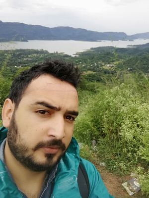 #SelfieWithAView #TripotoCommunity Gobind Sagar Lake is behind me. Himachal Pradesh.
