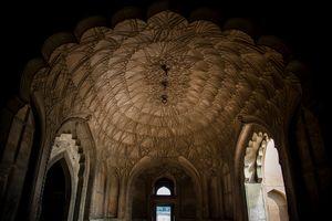 A  beautiful wall of safdurjung tomb
