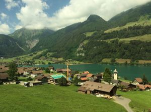 Switzerland has so much to offer! Look at the view from running train!