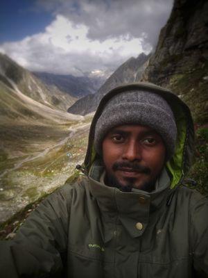 a selfie on the maiden trek, Siaguru via Hampta pass.  #SelfieWithAView #TripotoCommunity