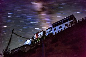 Welcome to Kaza : The stars and star trails the beauty of Kaza