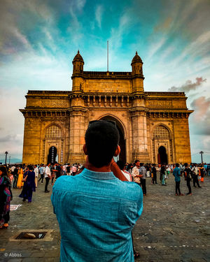 One of the best tourist attraction in MUMBAI (THE GATEWAY OF INDIA) and (THE TAJ MAHAL PALACE HOTEL)