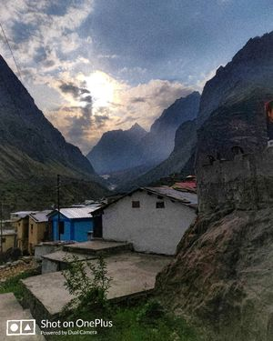 India's last village Mana, Uttarakhand. Famous for its beautiful landscapes, snow capped mountains.