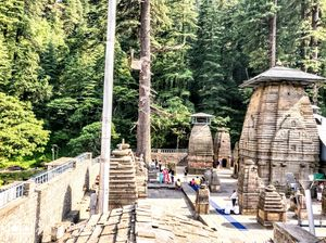 Jageshwar temple is situated 34 km away from Almora. temple is surrounded by large pine trees.