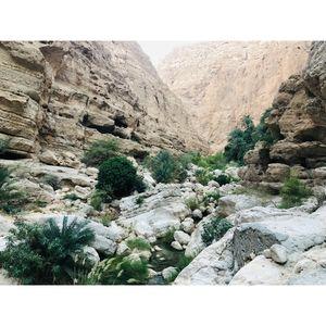 Trekking at Wadi Shab#offbeatgetaway