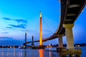 bridge gentala arasy is a pedestrian bridge that connects Jambi city to the other side of the city,