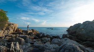 tengi parai beach is located in clay bangka river, this beautiful beach with coral reefs is a locati