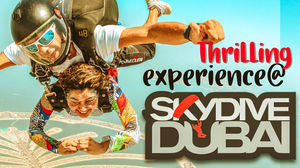 My first Skydive experience @ Skydive Dubai | The Palm | 2019 | Indian girl