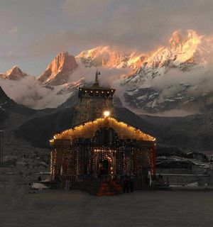 Behind Kedarnath