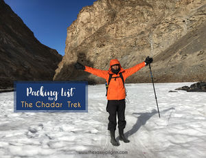 PACKING LIST FOR THE CHADAR TREK, INDIA