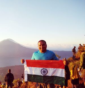 My first International trek @Mt. Batur volcano mountain, Bali, Indonesia