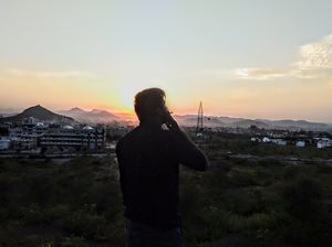 And we don't even care about what they say 'Cause it's ya ya ya # trippy #insane #udaipur #sunset
