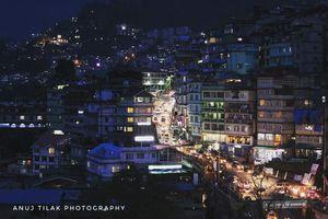 City lights at Gangtok