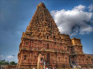 THANJAVUR, TAMILNADU : 11th century Brihadeeswara temple,  a vast Chola Dynasty era complex