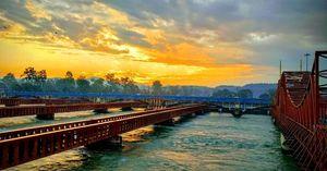 Beautiful Sunrise at Harki pauri Haridwar