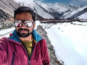 We travel In a circle Going afar To reach home.  #SelfieWithAView #TripotoCommunity