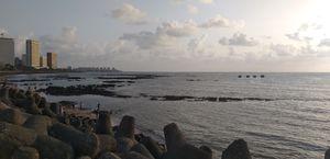 Marine Drive Mumbai, A Beautiful walk way and sunset point.