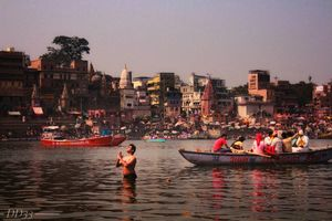 HOLY DIP AT GANGA RIVER   THE ESSENCE OF ALL RELIGIONS R THE SAME ONLY THE APPROACHES ARE DIFFERENT