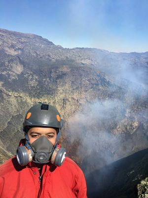 At the summit of the most active volcano in South America!  #SelfieWithAView #TripotoCommunity