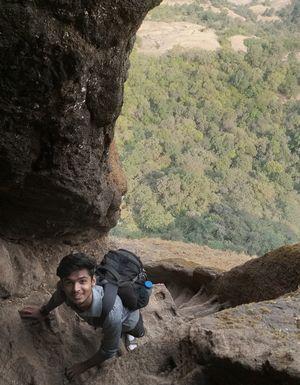 Trekking on Rock steps !