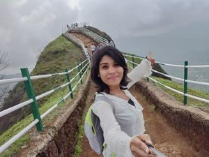 Away from the network, I am challenging my fear???? #TripotoCommunity #SelfieWithAView