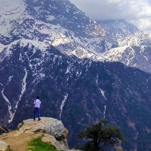 Chilling with triund Himachal