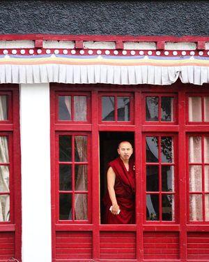 A Buddhist Monk!