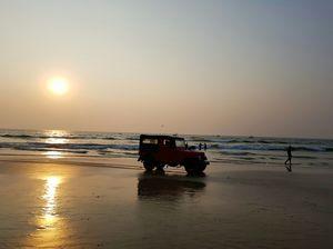 Sunset at Calangute Beach,Goa (the best)