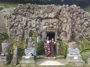 One of Bali's holiest Hindu sites! #intricatecarves #ubudbali #worldheritagesites