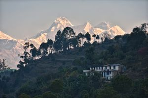 View of Himalayas From a village of Bageshwar district.