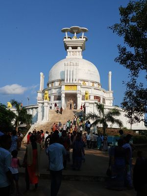 The Historic Place Dhauli Shanti Stupa