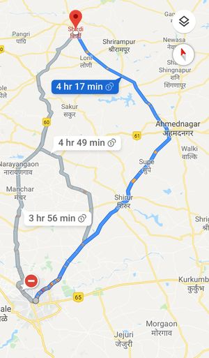 Quick road trip to shirdi